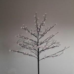 Дерево комнатное «Сакура», коричневый цвет ствола и веток, высота 1.2 метра, 80 светодиодов белого цвета, трансформатор IP44  NEON-NIGHT