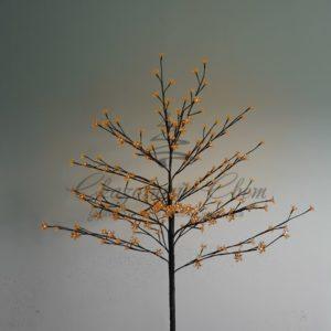 Дерево комнатное «Сакура», коричневый цвет ствола и веток, высота 1.2 метра, 80 светодиодов теплого белого цвета, трансформатор IP44  NEON-NIGHT