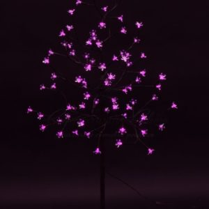 """Дерево комнатное """"Сакура"""", коричневый цвет ствола и веток, высота 1.2 метра, 80 светодиодов розового цвета, трансформатор IP44  NEON-NIGHT"""
