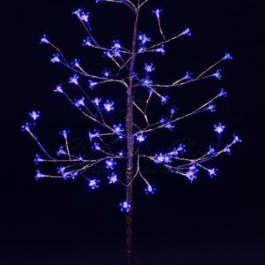 Дерево комнатное «Сакура», ствол и ветки фольга, высота 1.2 метра, 80 светодиодов синего цвета, трансформатор IP44  NEON-NIGHT