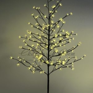 Дерево комнатное «Сакура», коричневый цвет ствола и веток, высота 1.5 метра, 120 светодиодов желтого цвета, трансформатор IP44  NEON-NIGHT