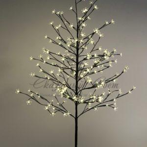 Дерево комнатное «Сакура», коричневый цвет ствола и веток, высота 1.5 метра, 120 светодиодов теплого белого цвета, трансформатор IP44  NEON-NIGHT