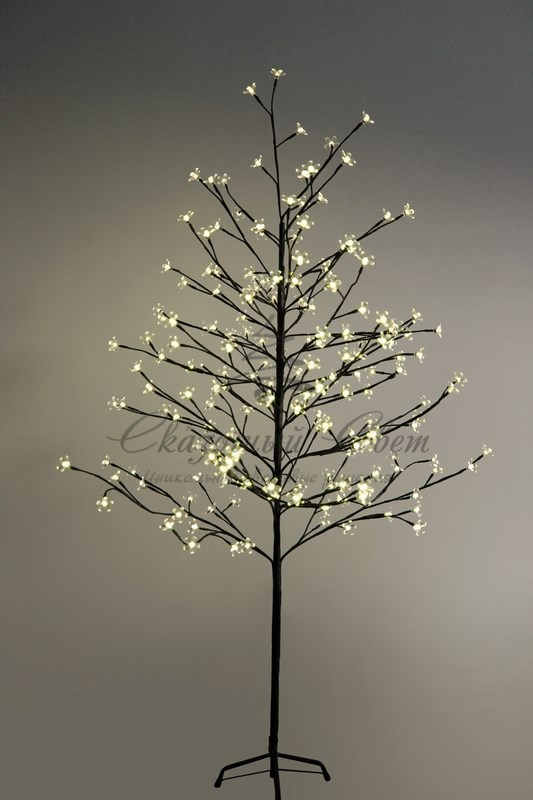 """Дерево комнатное """"Сакура"""", коричневый цвет ствола и веток, высота 1.5 метра, 120 светодиодов теплого белого цвета, трансформатор IP44  NEON-NIGHT 3"""