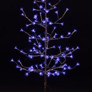 Дерево комнатное «Сакура», ствол и ветки фольга, высота 1.5 метра, 120 светодиодов синего цвета, трансформатор IP44  NEON-NIGHT