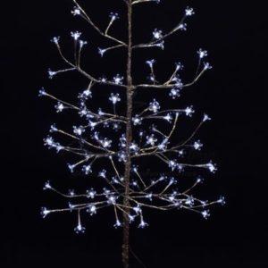 Дерево комнатное «Сакура», ствол и ветки фольга, высота 1.5 метра, 120 светодиодов белого цвета, трансформатор IP44  NEON-NIGHT