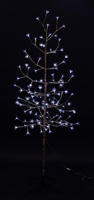 """Дерево комнатное """"Сакура"""", ствол и ветки фольга, высота 1.5 метра, 120 светодиодов белого цвета, трансформатор IP44  NEON-NIGHT 3"""