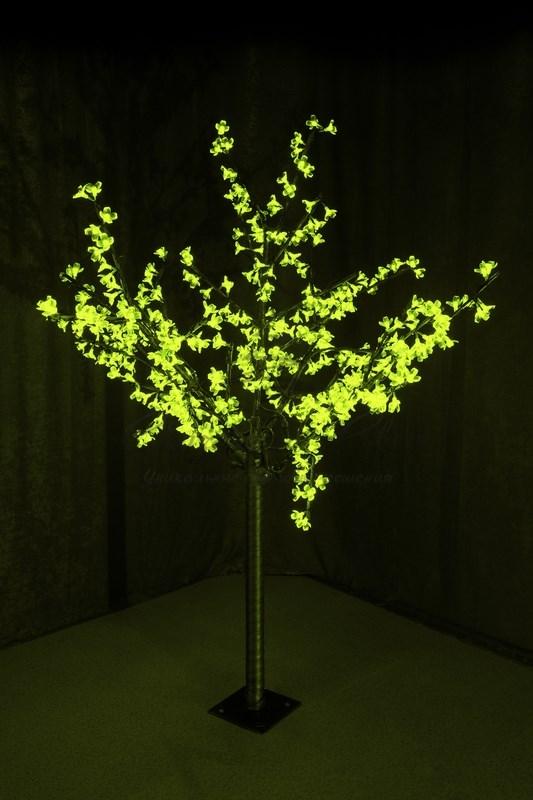 """Светодиодное дерево """"Сакура"""", высота 1,5 м, диаметр кроны 1,3м, зеленые диоды, IP 44, понижающий трансформатор в комплекте, NEON-NIGHT 1"""