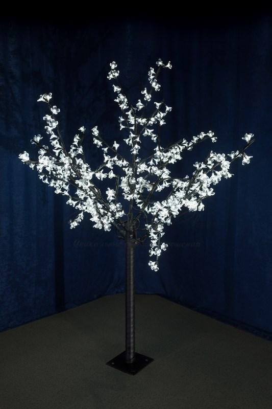 """Светодиодное дерево """"Сакура"""", высота 1,5 м, диаметр кроны 1,3м, белые светодиоды, IP 44, понижающий трансформатор в комплекте, NEON-NIGHT 1"""