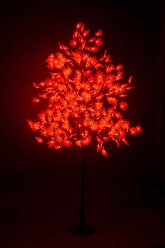 """Светодиодное дерево """"Клён"""", высота 2,1м, диаметр кроны 1,8м, красные светодиоды, IP 65, понижающий трансформатор в комплекте, NEON-NIGHT"""