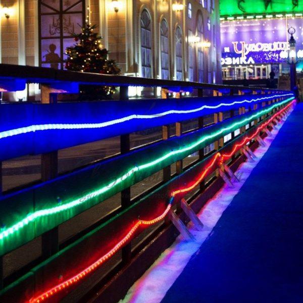 Дюралайт LED, постоянное свечение (2W) - зеленый Эконом 24 LED/м , бухта 100м 2