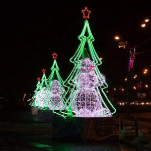 Гибкий Неон LED  — зеленый, бухта 50м