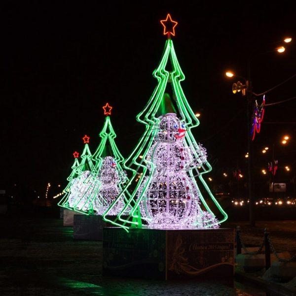 Гибкий Неон LED  - зеленый, бухта 50м 1