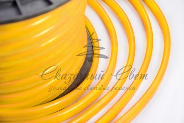 Гибкий Неон LED  - желтый, оболочка желтая, бухта 50м 3