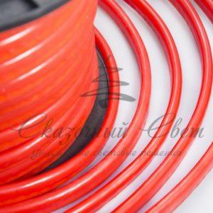 Гибкий Неон LED  — красный, оболочка красная, бухта 50м