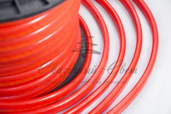 Гибкий Неон LED  - красный, оболочка красная, бухта 50м 1