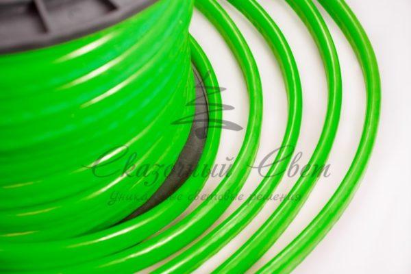Гибкий Неон LED  - зеленый, оболочка зеленая, бухта 50м 1