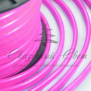 Гибкий Неон LED  — розовый, оболочка розовая, бухта 50м