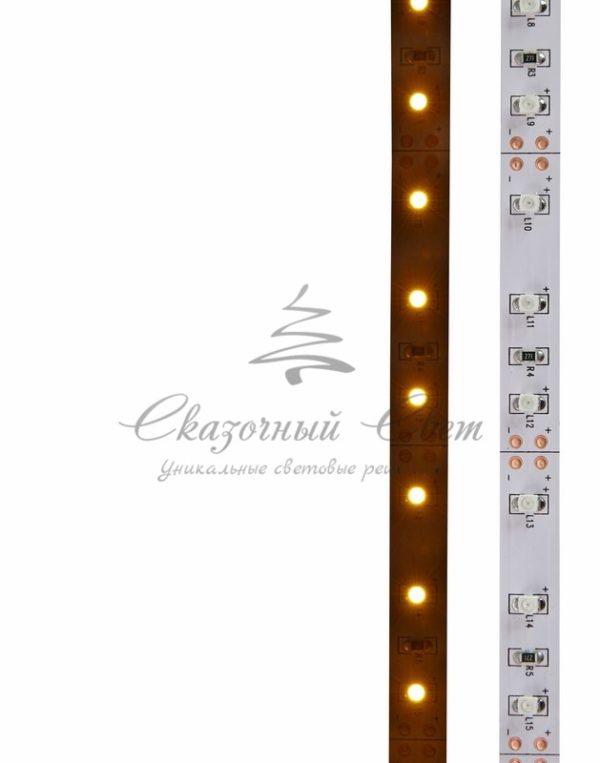 LED лента открытая, 8мм, IP23, SMD 2835, 60 LED/m, 12V, желтая, катушка 5 м 3