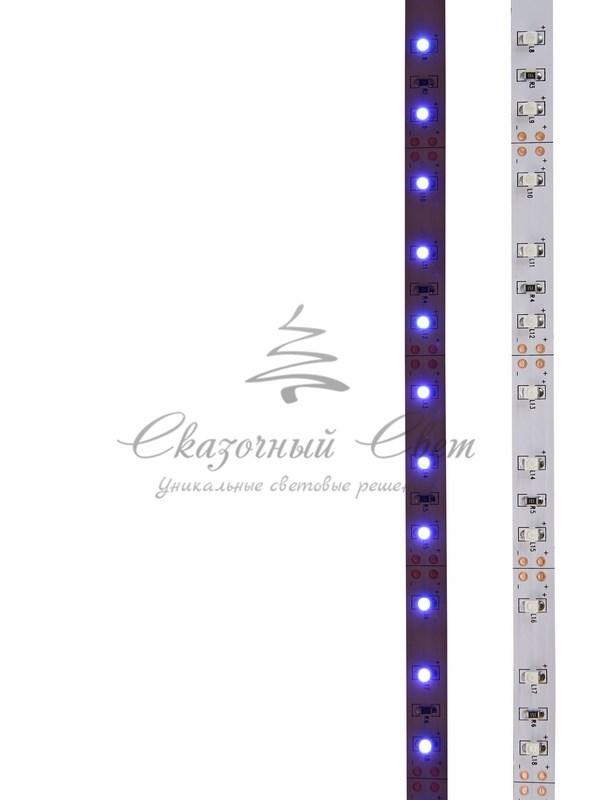 LED лента открытая, 8мм, IP23, SMD 2835, 60 LED/m, 12V, синяя, катушка 5 м 3