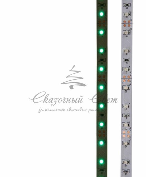 LED лента открытая, 8мм, IP23, SMD 2835, 60 LED/m, 12V, зеленая, катушка 5 м 3