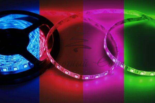 LED лента открытая, 10мм, IP23, SMD 5050, 60 LED/m, 12V, RGB, катушка 5 м