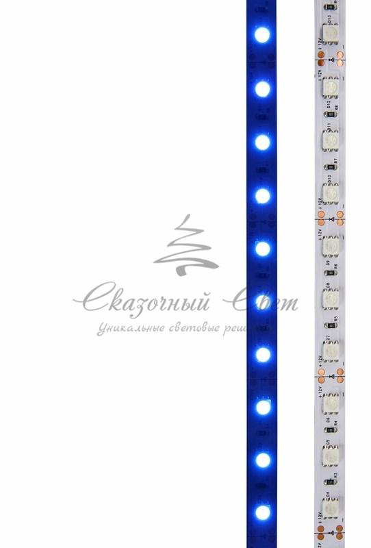 LED лента открытая, 10мм, IP23, SMD 5050, 60 LED/m, 12V, синяя, катушка 5 м 2