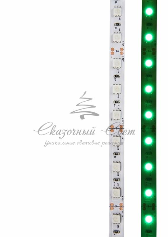 LED лента открытая, 10мм, IP23, SMD 5050, 60 LED/m, 12V, зеленая, катушка 5 м 2
