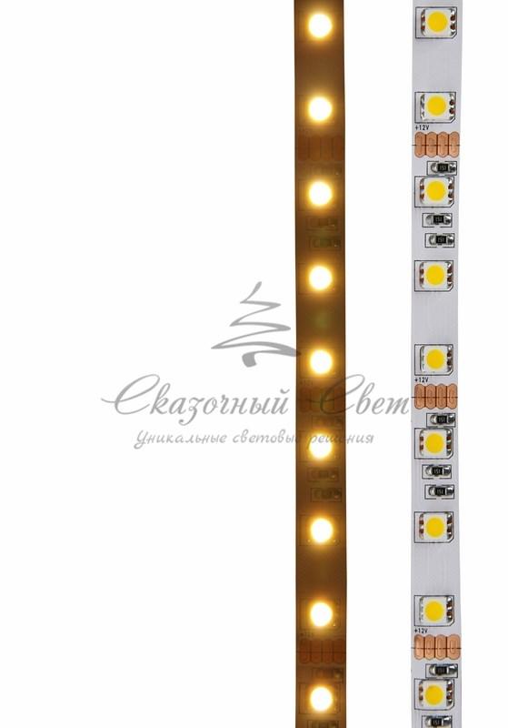 LED лента открытая, 10мм, IP23, SMD 5050, 60 LED/m, 12V, тепло-белая, катушка 5 м 2