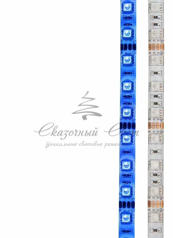LED лента силикон, 10мм, IP65, SMD 5050, 60 LED/m, 12V, синяя, катушка 5 м 4