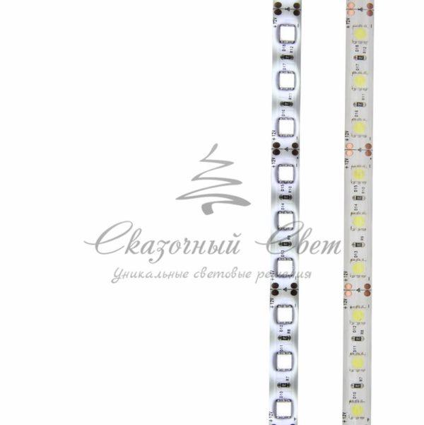 LED лента силикон, 10мм, IP65, SMD 5050, 60 LED/m, 12V, белая, катушка 5 м 1