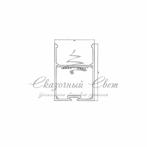 Профиль накладной алюминиевый 5070-2 REXANT, 2м 1
