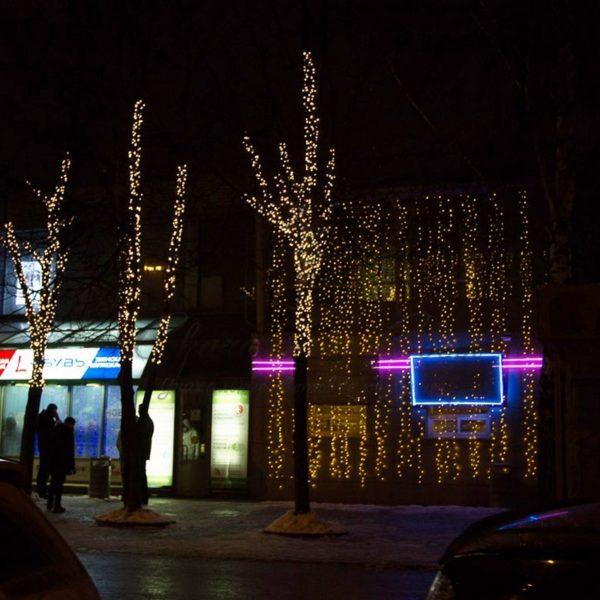 """Гирлянда """"Светодиодный Дождь"""" 2х3м, постоянное свечение, черный провод, 230 В, диоды ЖЁЛТЫЕ, 760 LED 1"""