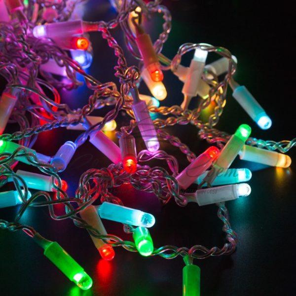 Гирлянда Айсикл (бахрома) светодиодный, 4,8 х 0,6 м, прозрачный провод, 230 В, диоды RGB, 176 LED NEON-NIGHT 5