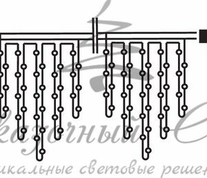 Гирлянда Айсикл (бахрома) светодиодный, 4,8 х 0,6 м, белый провод, 230 В, диоды тепло-белые,  176 LED NEON-NIGHT