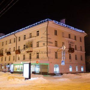 Гирлянда Айсикл (бахрома) светодиодный, 4,0 х 0,6 м, черный провод «КАУЧУК», 230 В, диоды белые, 128 LED NEON-NIGHT