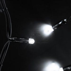 Гирлянда Айсикл (бахрома) светодиодный, 6,0 х 1,5 м, черный провод «КАУЧУК», 230 В, диоды белые, 240 LED NEON-NIGHT