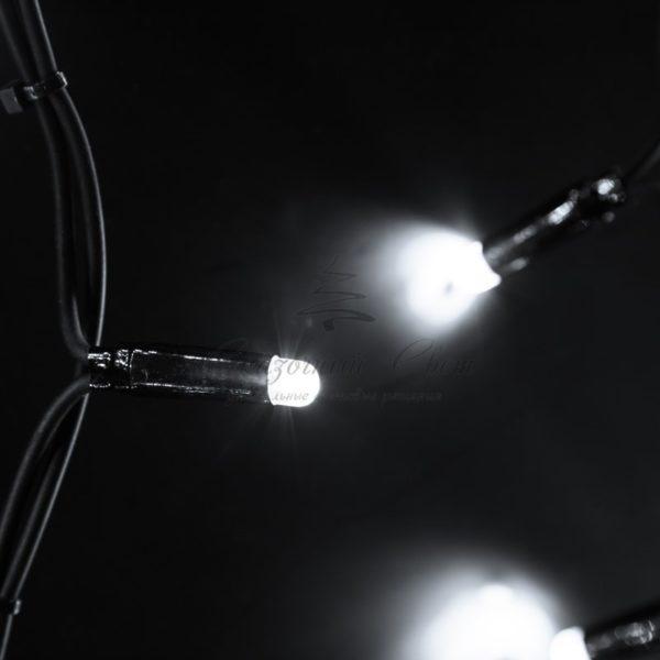 """Гирлянда Айсикл (бахрома) светодиодный, 6,0 х 1,5 м, черный провод """"КАУЧУК"""", 230 В, диоды белые, 240 LED NEON-NIGHT 1"""