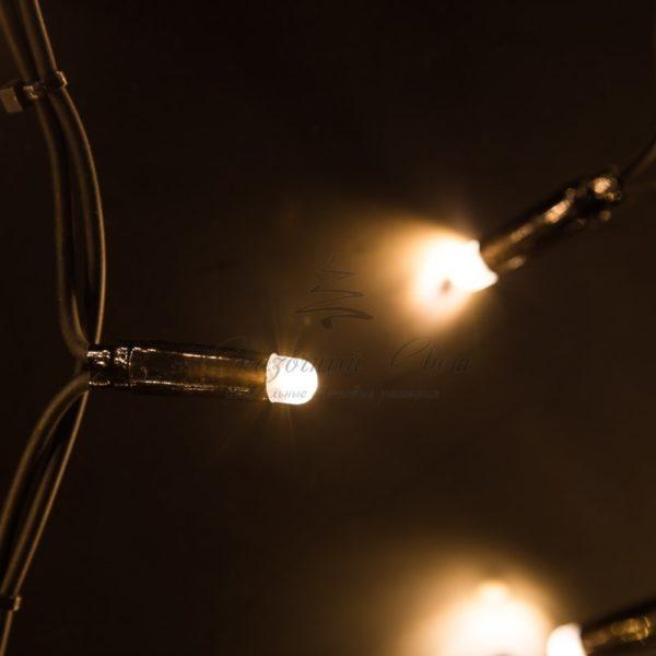"""Гирлянда Айсикл (бахрома) светодиодный, 6,0 х 1,5 м, черный провод """"КАУЧУК"""", 230 В, диоды тепло-белые, 480 LED NEON-NIGHT 1"""
