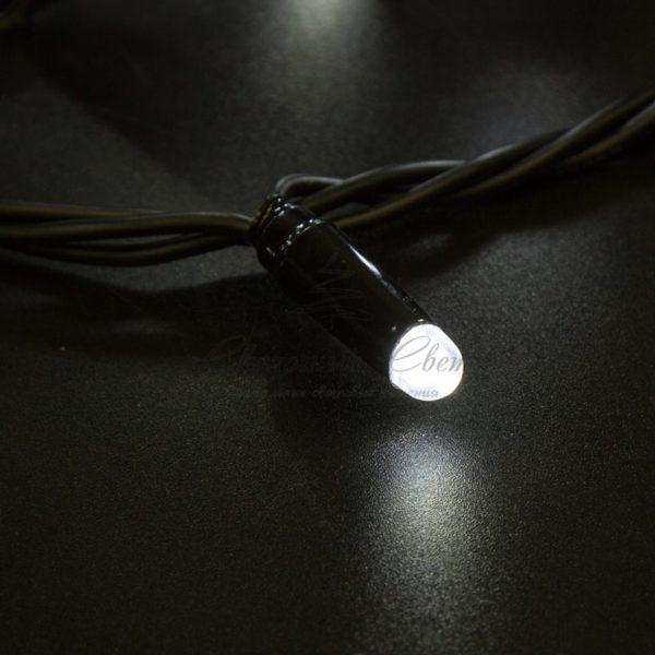 Гирлянда Нить 10м, постоянное свечение, черный ПВХ, 230В, цвет: Белый 2
