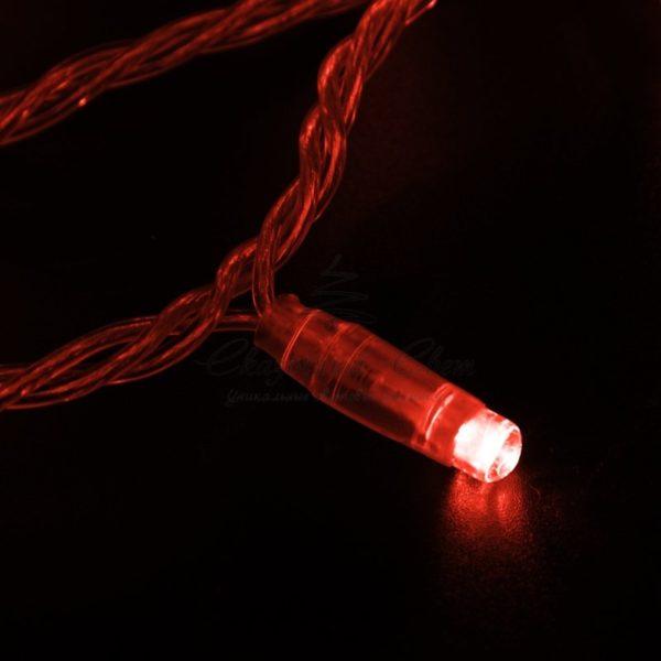 Гирлянда Нить 10м, постоянное свечение, прозрачный ПВХ, 230В, цвет: Красный 2