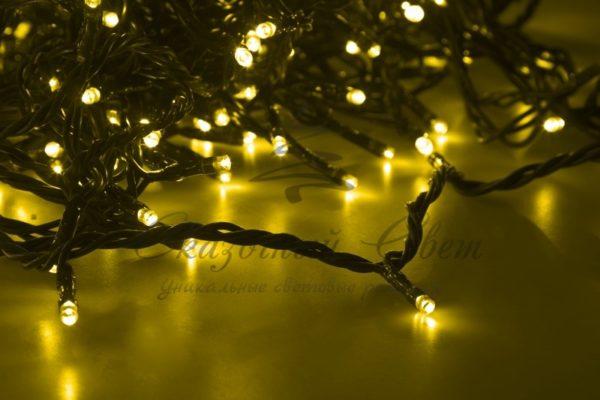 """Гирлянда """"LED ClipLight"""" 24V, 5 нитей по 20 метров, цвет диодов Желтый 2"""