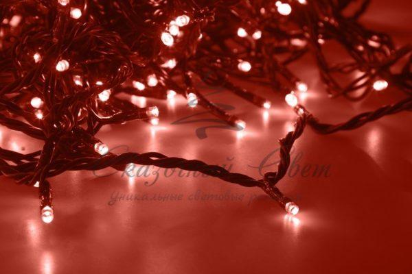 """Гирлянда """"LED ClipLight"""" 24V, 5 нитей по 20 метров, цвет диодов Красный 2"""
