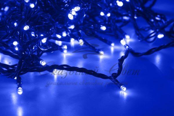 """Гирлянда """"LED ClipLight"""" 24V, 5 нитей по 20 метров, цвет диодов Синий, Flashing (Белый) 2"""