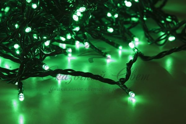 """Гирлянда """"LED ClipLight"""" 24V, 5 нитей по 20 метров, цвет диодов Зеленый, Flashing (Белый) 2"""