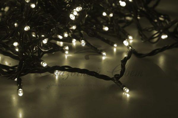 """Гирлянда """"LED ClipLight"""" 24V, 5 нитей по 20 метров, цвет диодов Теплый Белый, Flashing (Белый) 1"""