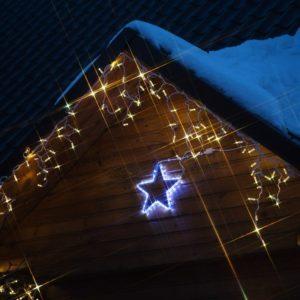 Фигура «Звездочка» цвет ТЕПЛЫЙ БЕЛЫЙ, размер 30*28 см  NEON-NIGHT