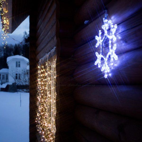 "Фигура ""Снежинка"" цвет белый, размер 45*38 см NEON-NIGHT 1"