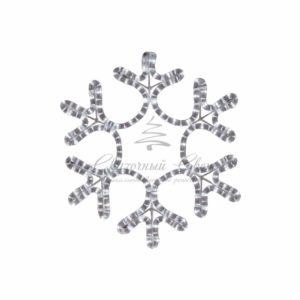 Фигура «Снежинка» цвет ТЕПЛЫЙ БЕЛЫЙ, размер  45*38 см  NEON-NIGHT