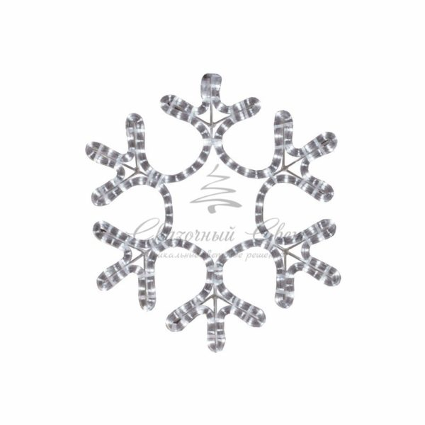"Фигура ""Снежинка"" цвет ТЕПЛЫЙ БЕЛЫЙ, размер  45*38 см  NEON-NIGHT 3"
