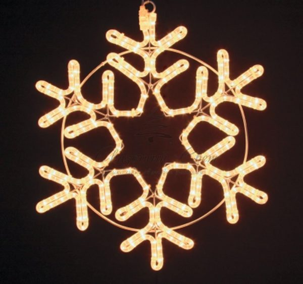"Фигура ""Снежинка"" цвет ТЕПЛЫЙ БЕЛЫЙ, размер 55*55 см NEON-NIGHT 2"